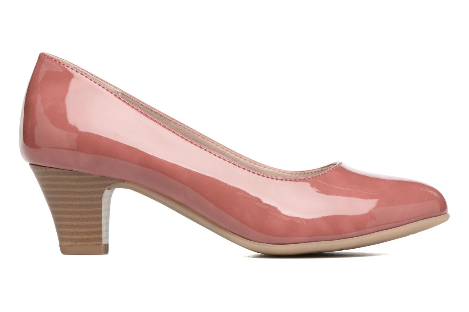 High heels Jana shoes Anis Pink back view
