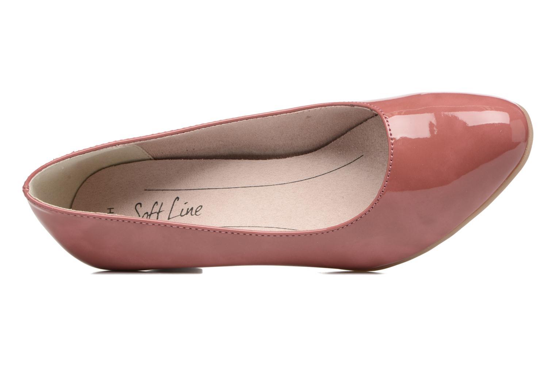 Zapatos de tacón Jana shoes Anis Rosa vista lateral izquierda