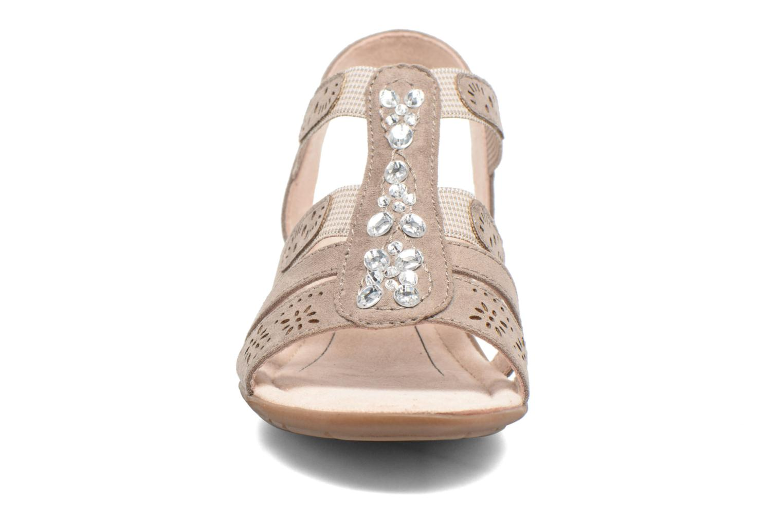 Sandalen Jana shoes Helen beige schuhe getragen
