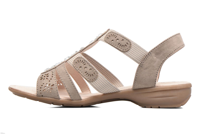 Sandalias Jana shoes Helen Beige vista de frente