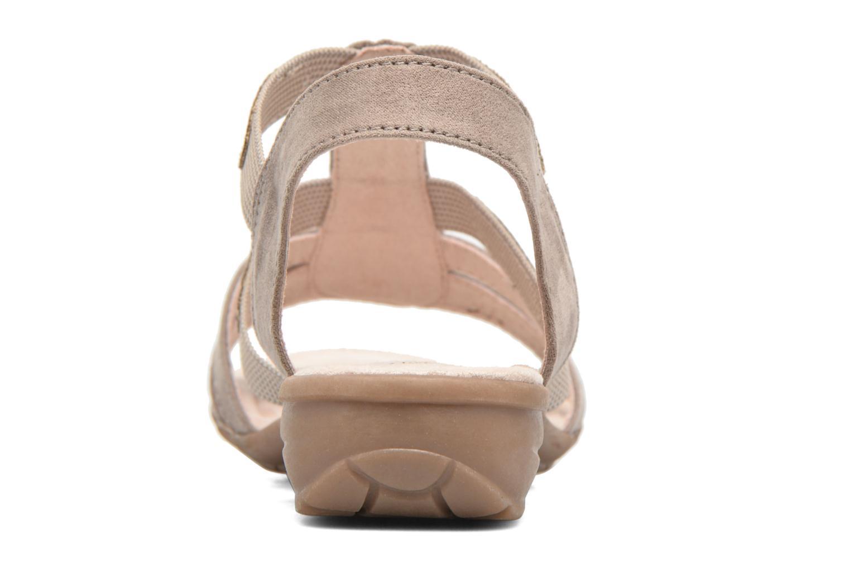 Sandalias Jana shoes Helen Beige vista lateral derecha