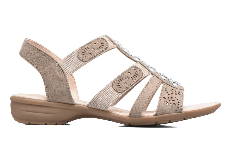Sandalen Jana shoes Helen beige ansicht von hinten