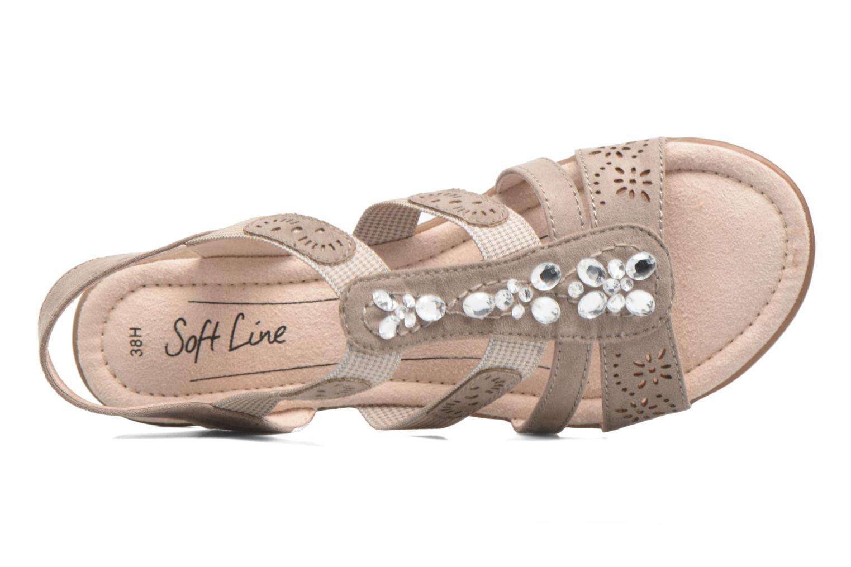 Sandalias Jana shoes Helen Beige vista lateral izquierda