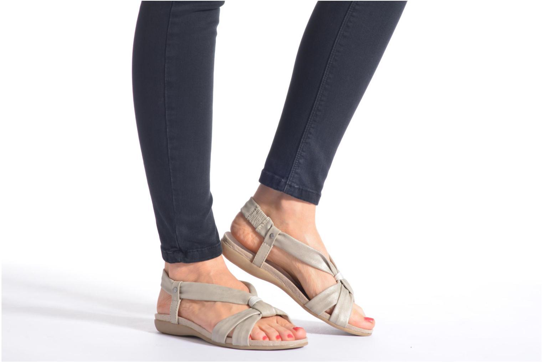 Sandales et nu-pieds Jana shoes Jana Beige vue bas / vue portée sac