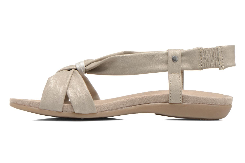 Sandales et nu-pieds Jana shoes Jana Beige vue face