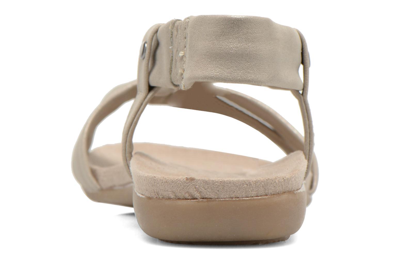 Sandales et nu-pieds Jana shoes Jana Beige vue droite