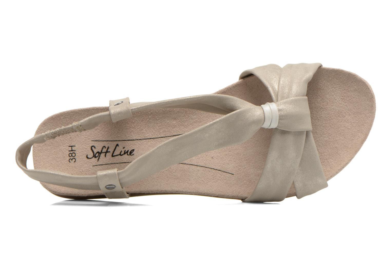 Sandales et nu-pieds Jana shoes Jana Beige vue gauche