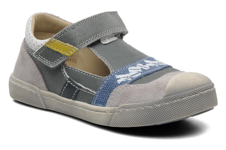 Chaussures à scratch Mod8 QUAMOD Gris vue détail/paire