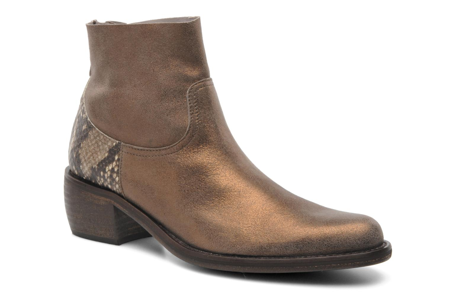 Ankle boots Elizabeth Stuart Oman 591 Bronze and Gold detailed view/ Pair view