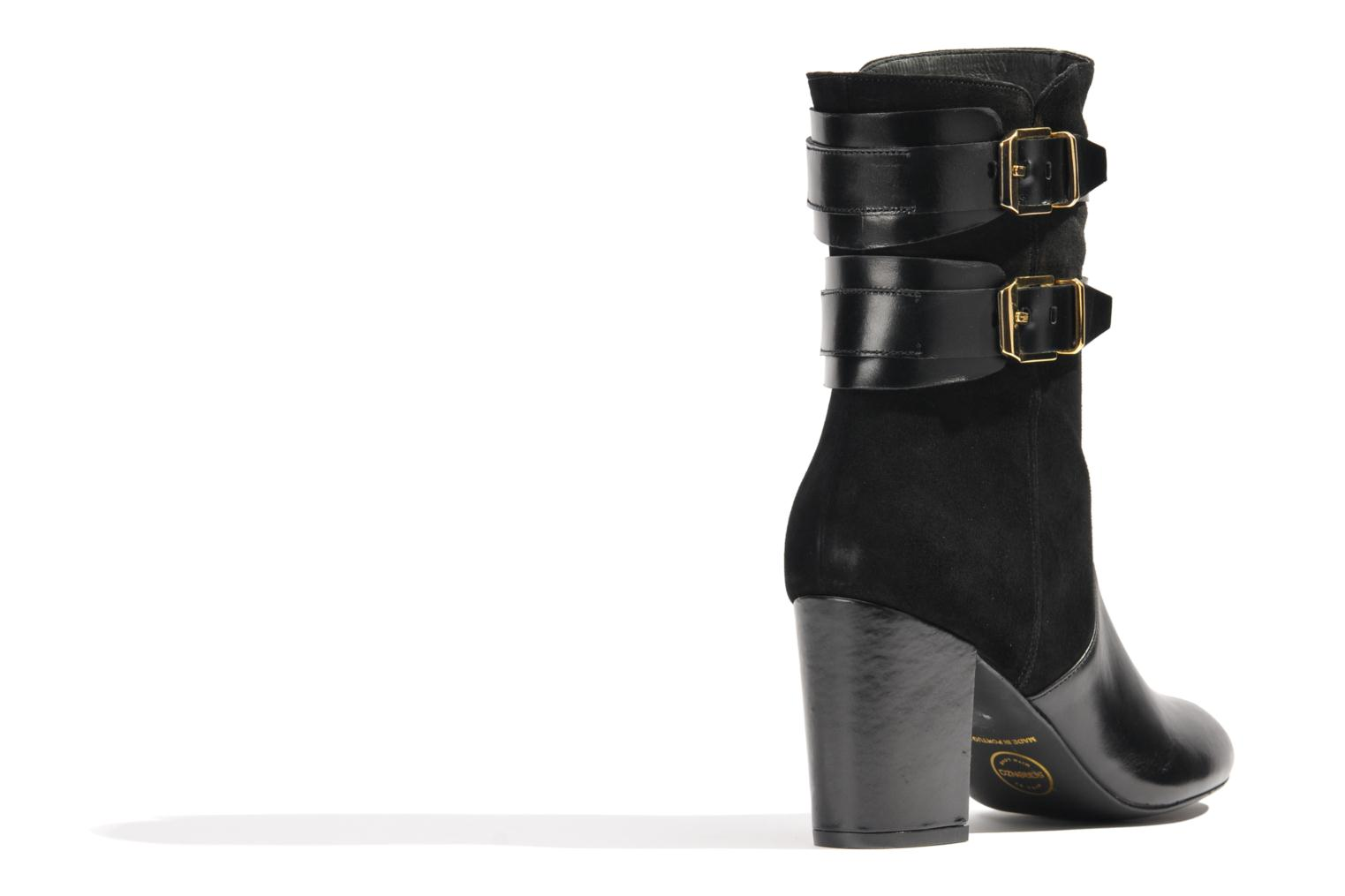 Ankle boots Made by SARENZA Rue des Dames #6 Black front view