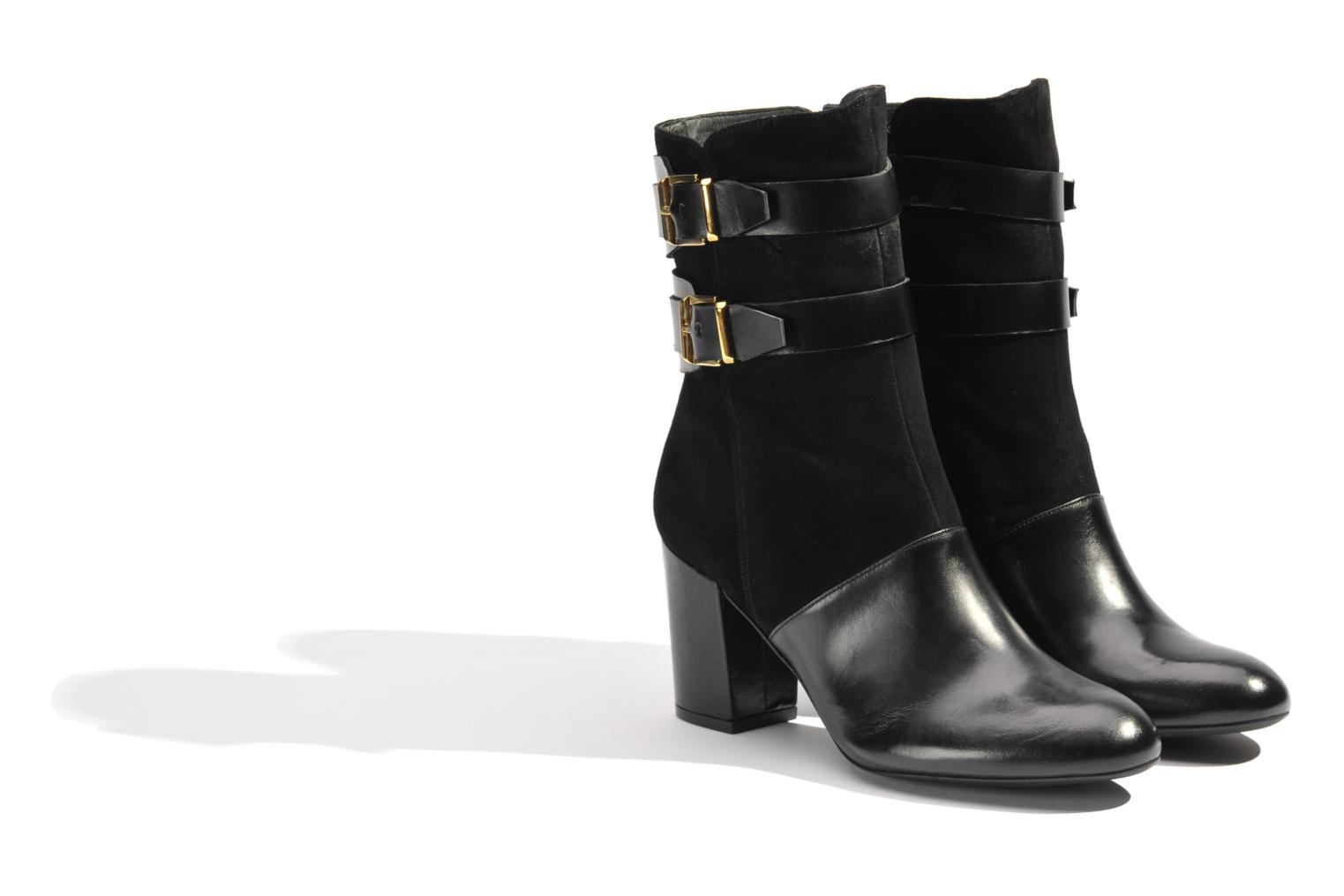 Ankle boots Made by SARENZA Rue des Dames #6 Black back view