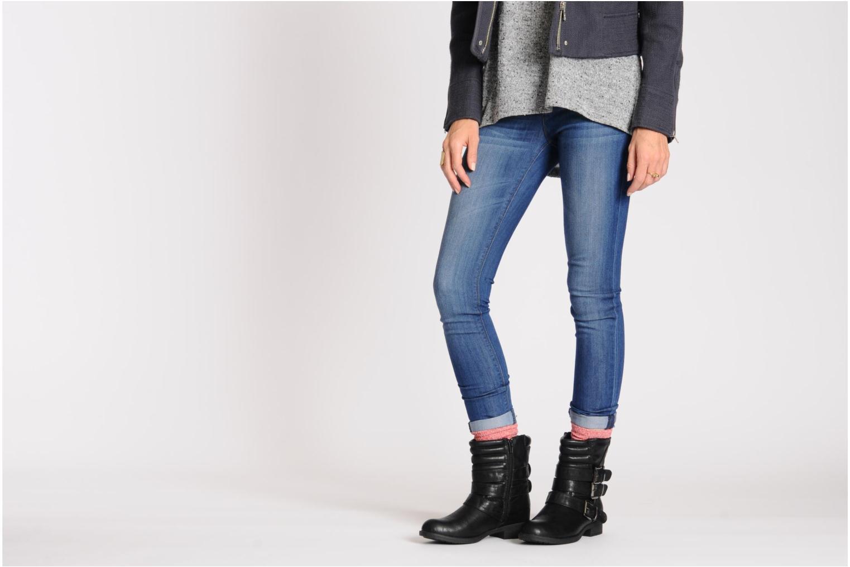 Stiefeletten & Boots Divine Factory D-stars schwarz ansicht von unten / tasche getragen