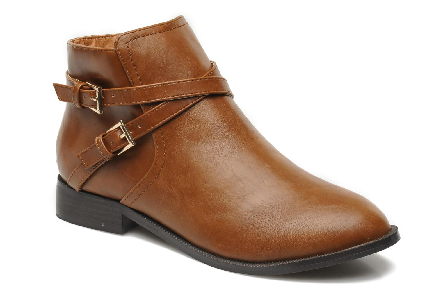 Ankle boots Divine Factory D-cable Brown detailed view/ Pair view