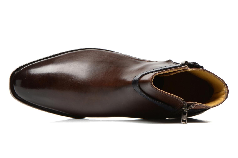 Tom 6 Crust Dark Brown Strap Navy Ls
