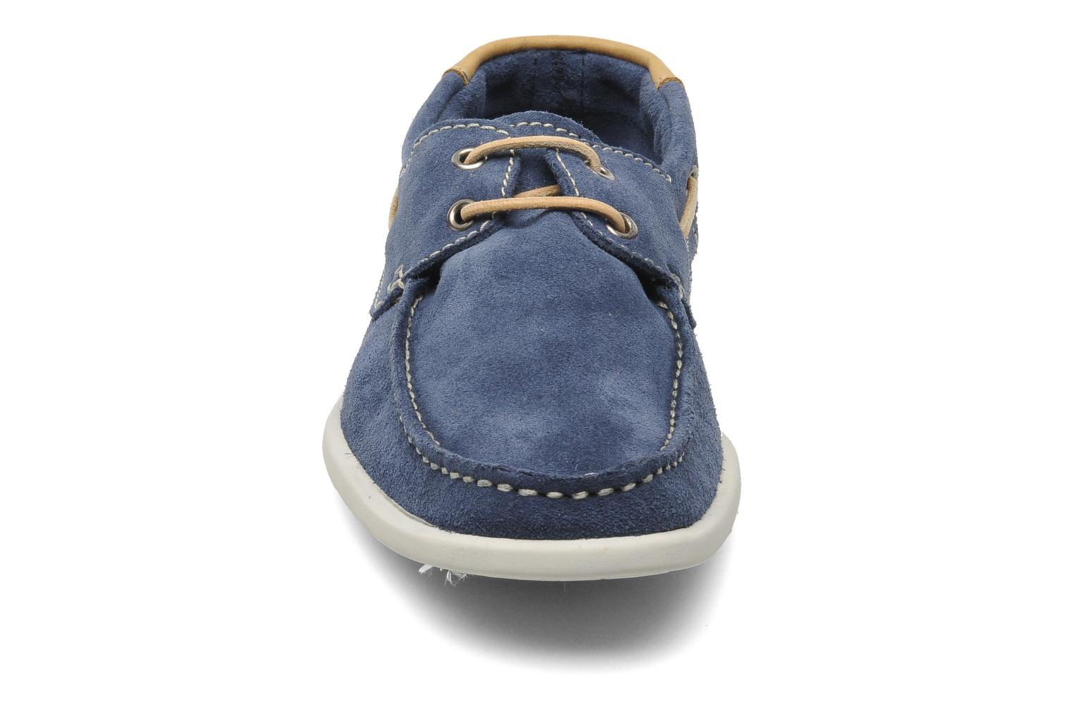 Veterschoenen Jack & Jones JJ James Suede Blauw model