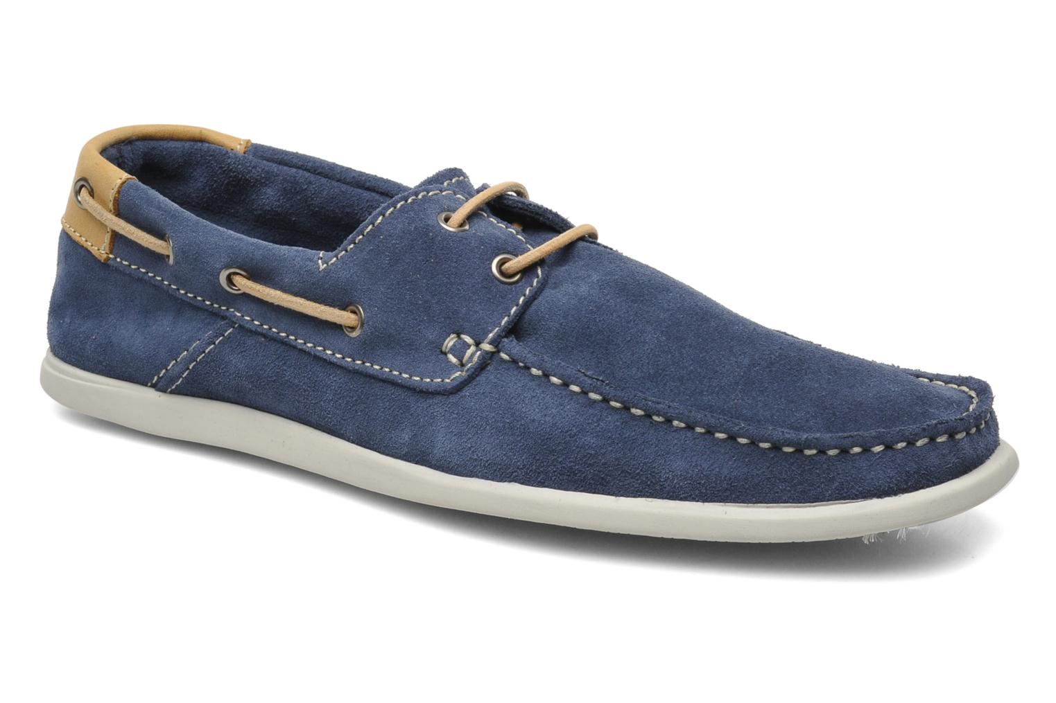 Veterschoenen Jack & Jones JJ James Suede Blauw detail
