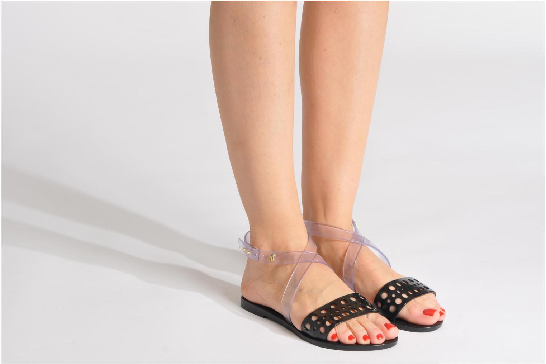 Sandalen Melissa Melissa Tasty Sp Ad schwarz ansicht von unten / tasche getragen