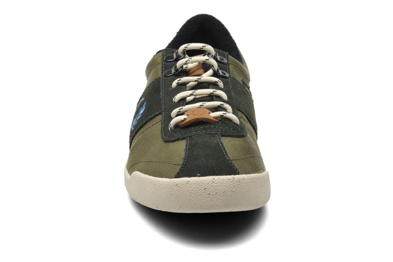 Sneaker Fred Perry Stockport cordura suede grün schuhe getragen