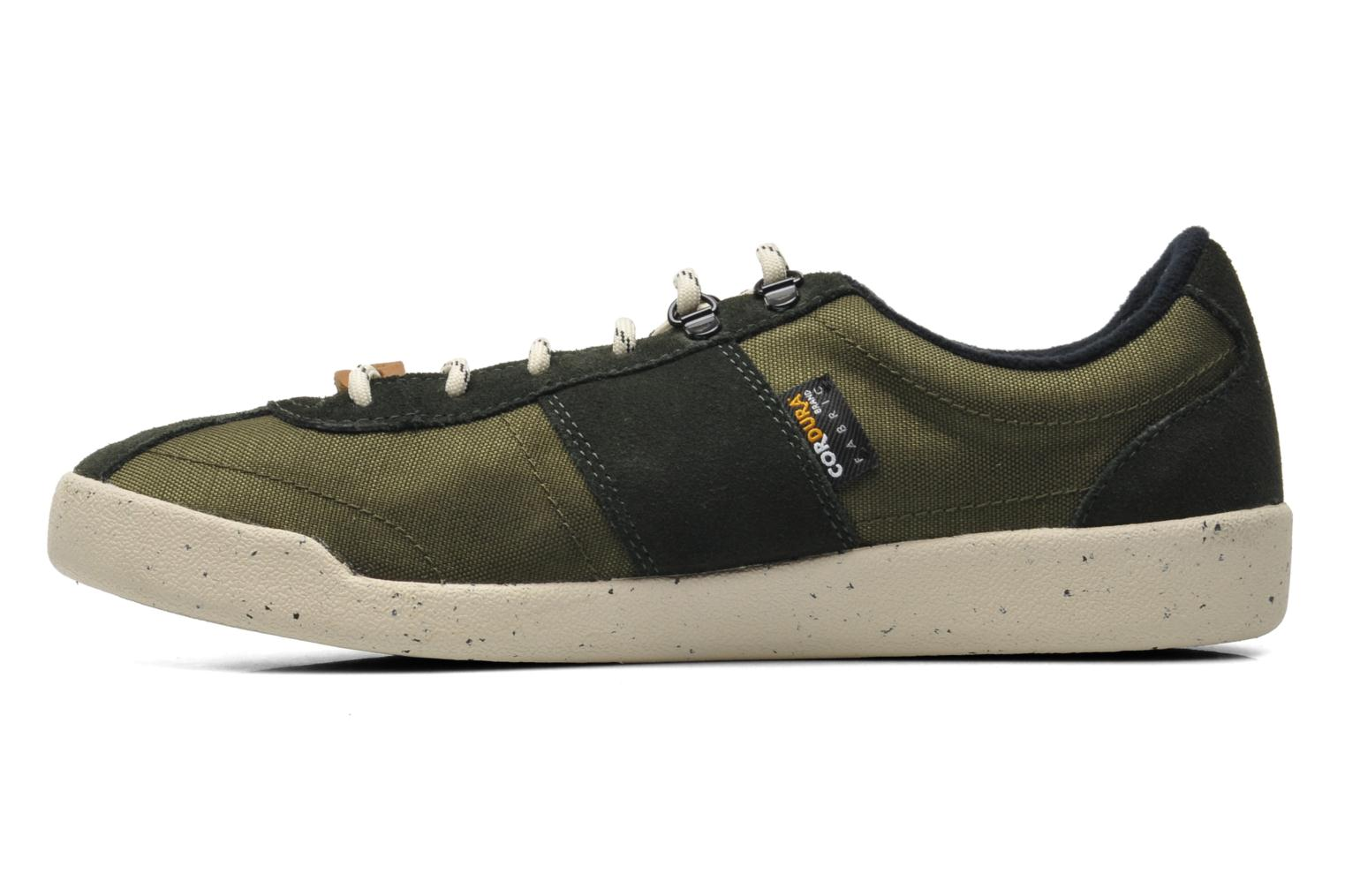 Baskets Fred Perry Stockport cordura suede Vert vue face