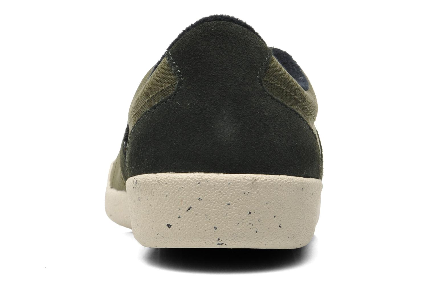 Baskets Fred Perry Stockport cordura suede Vert vue droite