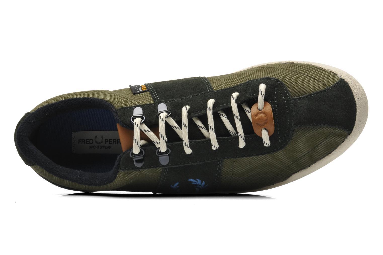 Sneaker Fred Perry Stockport cordura suede grün ansicht von links