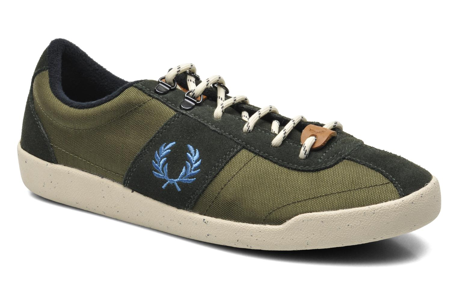 Baskets Fred Perry Stockport cordura suede Vert vue détail/paire