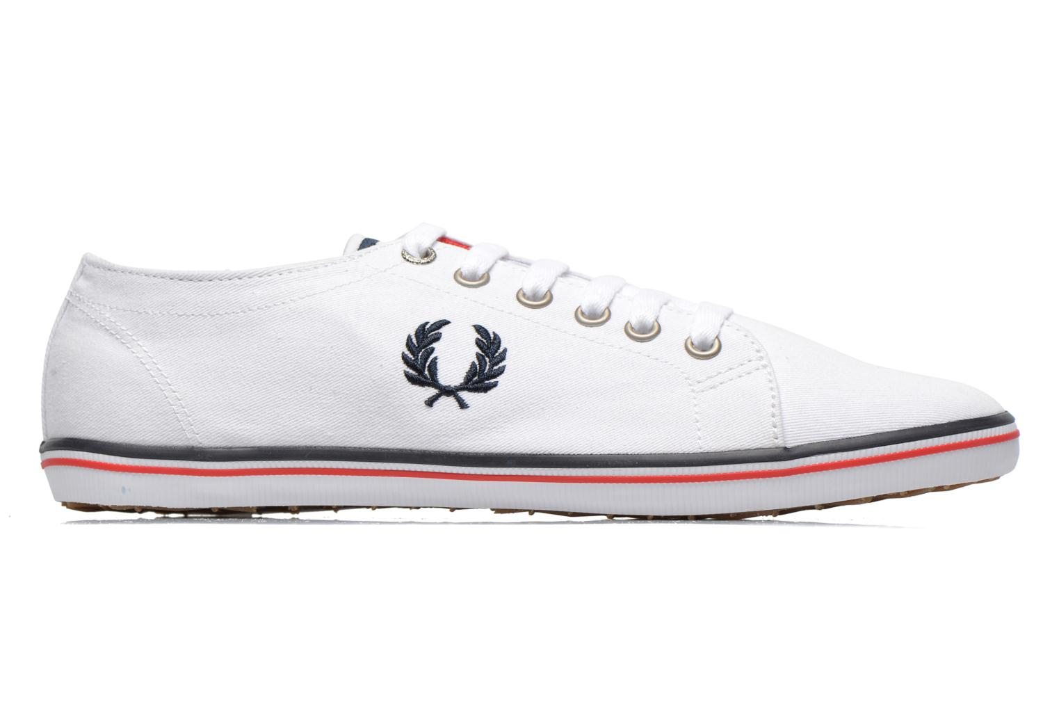 Sneakers Fred Perry Kingston Twill Wit achterkant