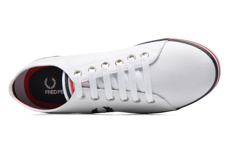 Sneaker Fred Perry Kingston Twill weiß ansicht von links
