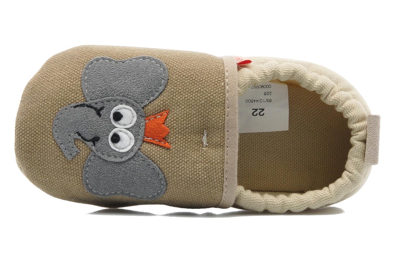 Pantofole Giesswein Bärenthal Beige immagine sinistra