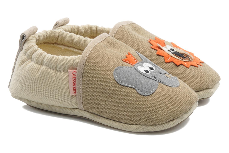 Hjemmesko Giesswein Bärenthal Beige detaljeret billede af skoene