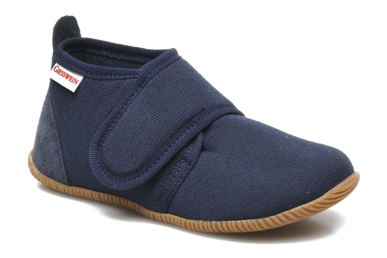 Pantoffels Giesswein Strass Slim Fit Blauw detail