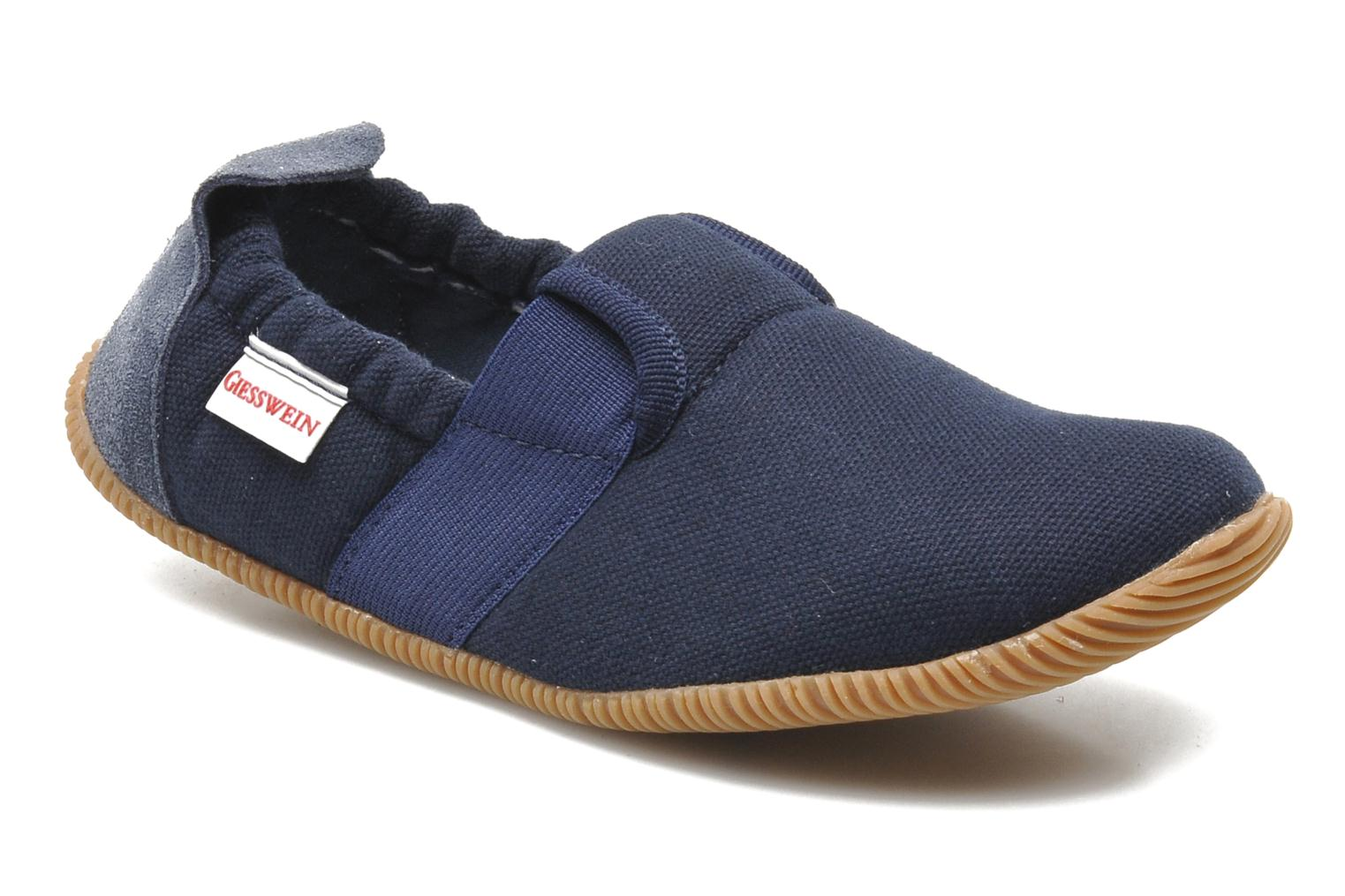 Slippers Giesswein Söll Slim Fit Blue detailed view/ Pair view