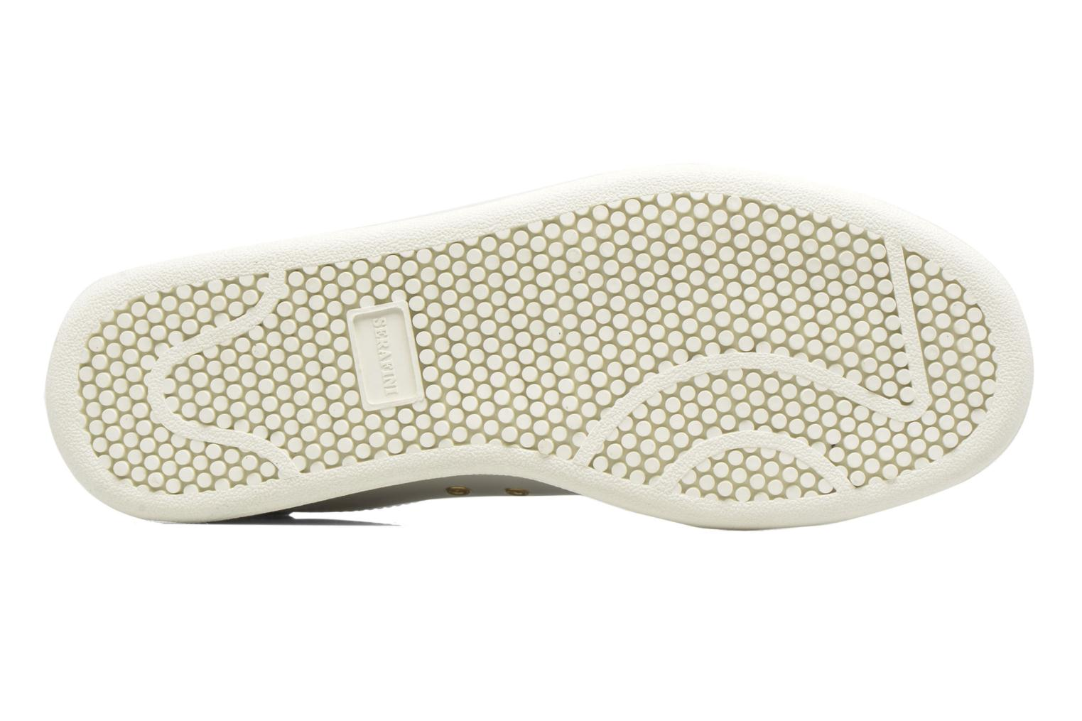 White Leather Gold Serafini J.Connors (Blanc)