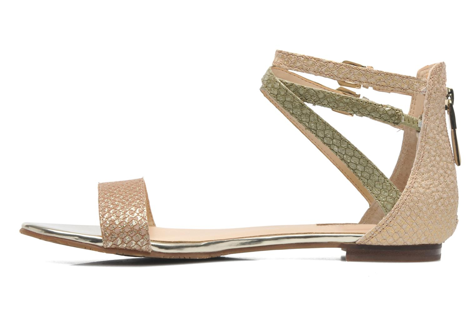 Sandals Guess Jill Bronze and Gold front view