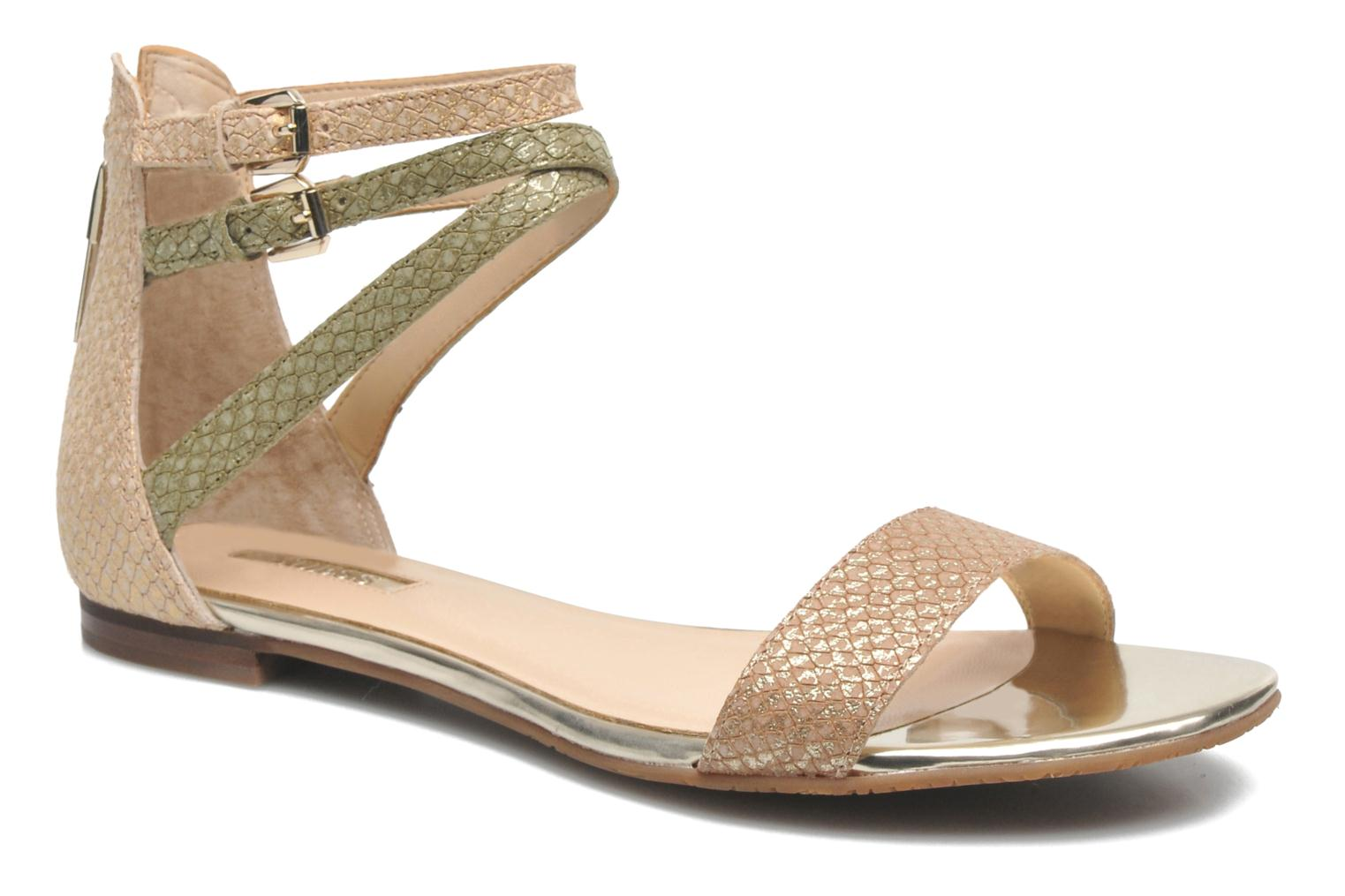 Sandals Guess Jill Bronze and Gold detailed view/ Pair view
