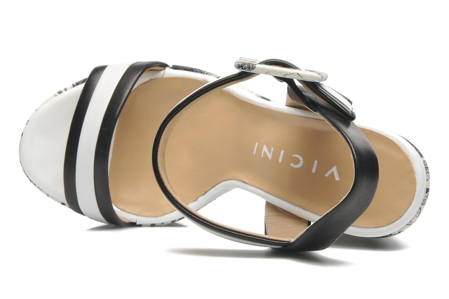Sandals Vicini Safine Black view from the left