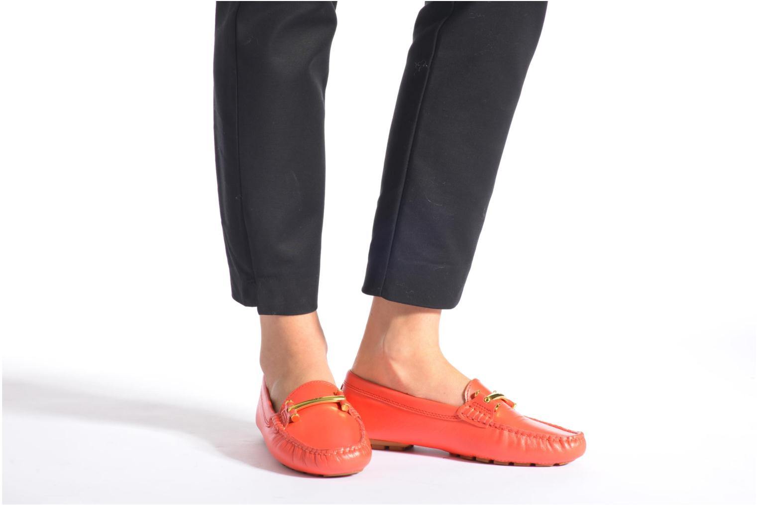 Loafers Lauren by Ralph Lauren Caliana Red view from underneath / model view
