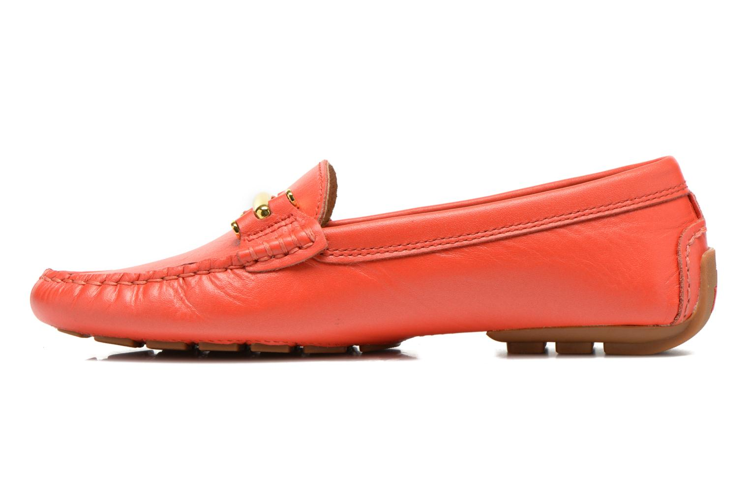Loafers Lauren by Ralph Lauren Caliana Red front view