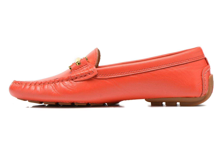 Loafers Lauren by Ralph Lauren Caliana Red front view