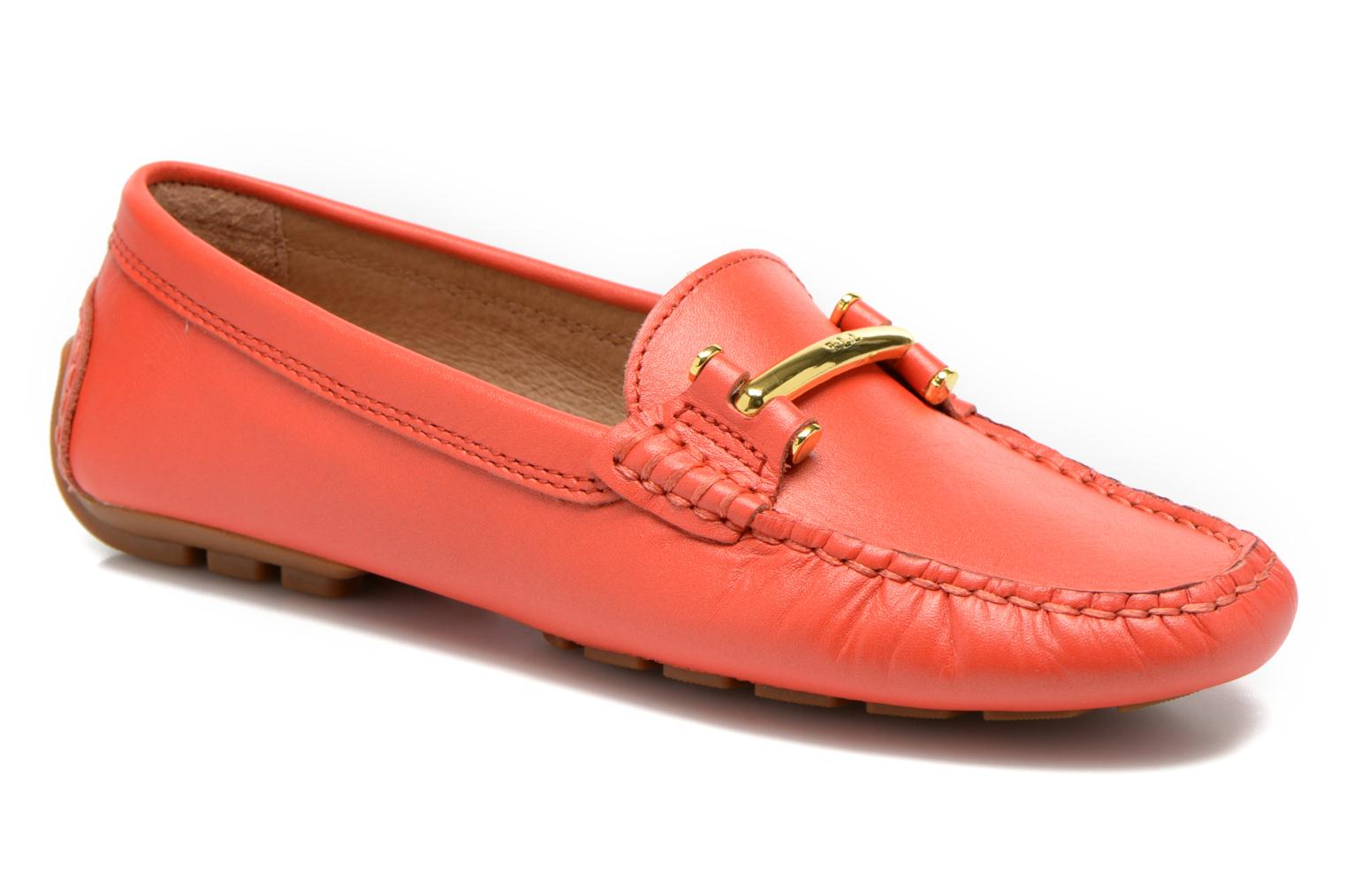 Loafers Lauren by Ralph Lauren Caliana Red detailed view/ Pair view
