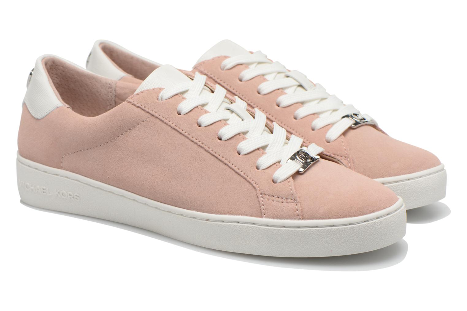 Trainers Michael Michael Kors Irving Lace Up Pink 3/4 view