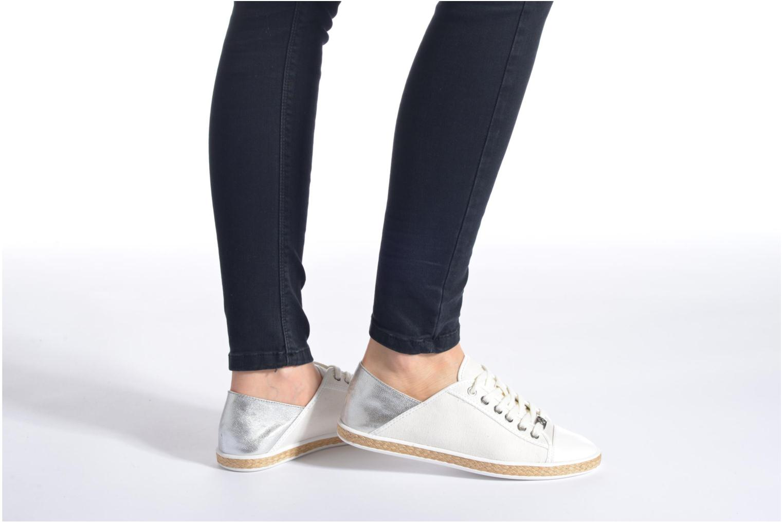 Sneaker Michael Michael Kors Kristy slide silber ansicht von unten / tasche getragen