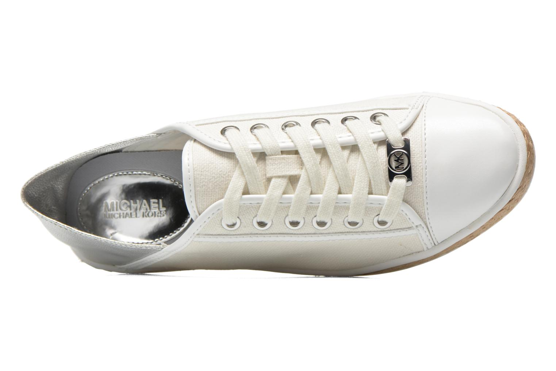 Sneaker Michael Michael Kors Kristy slide silber ansicht von links