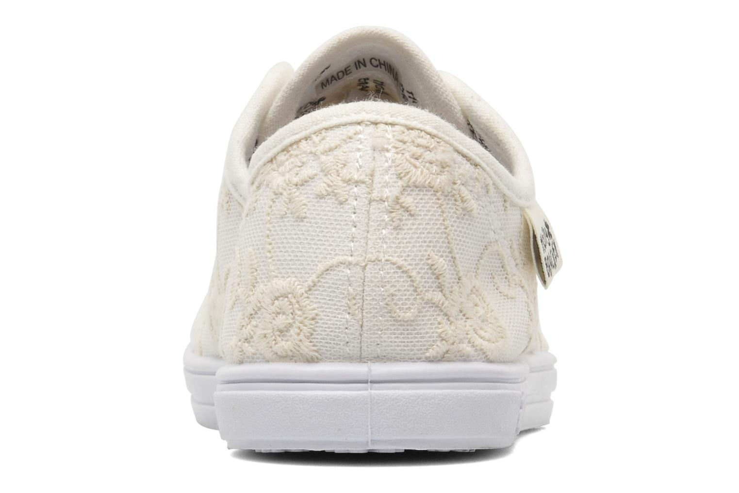 Baskets Molly Bracken Derby signature Blanc vue droite