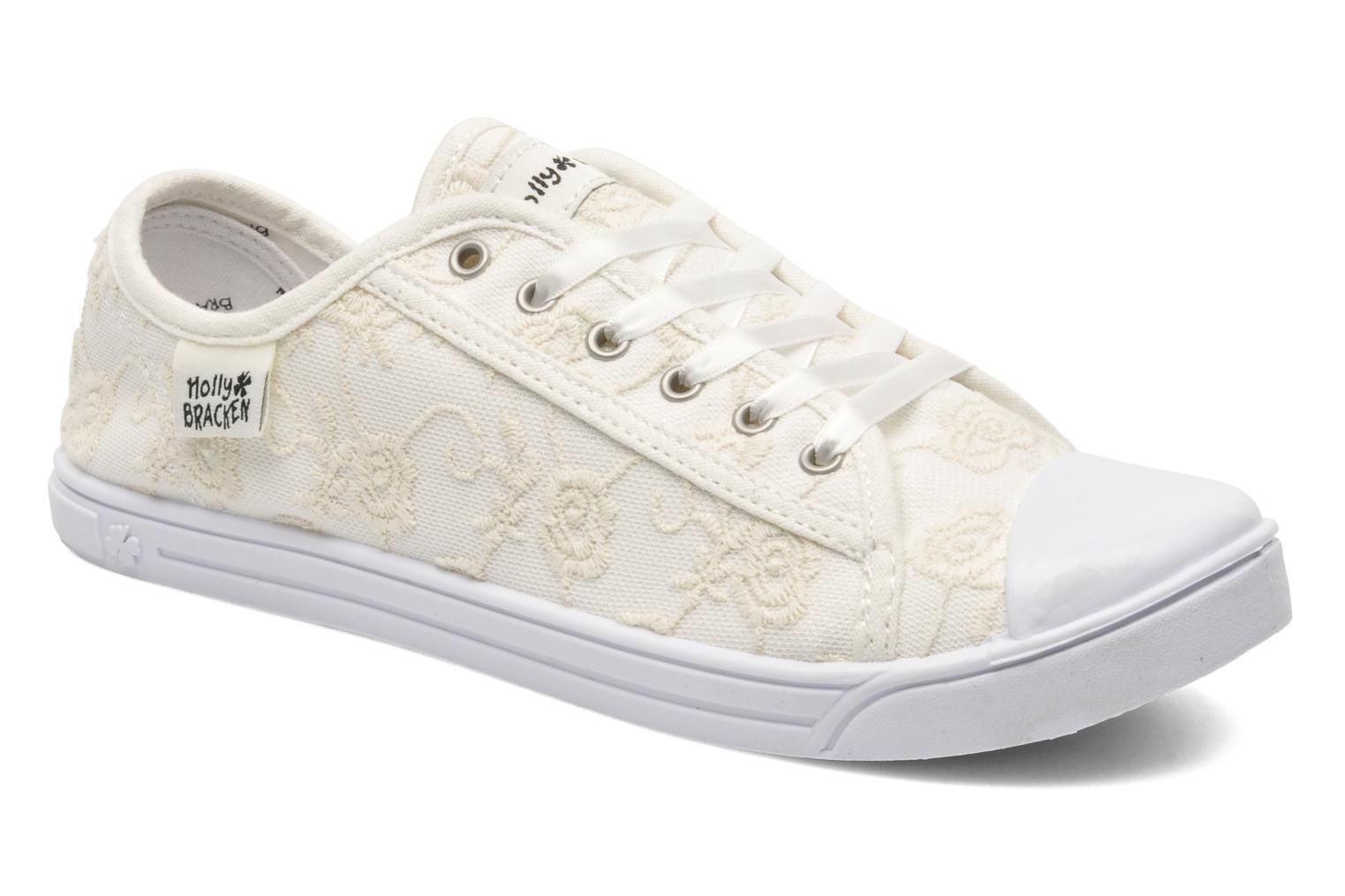 Baskets Molly Bracken Derby signature Blanc vue détail/paire