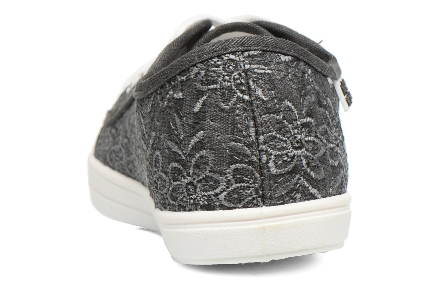Baskets Molly Bracken Derby signature Gris vue droite