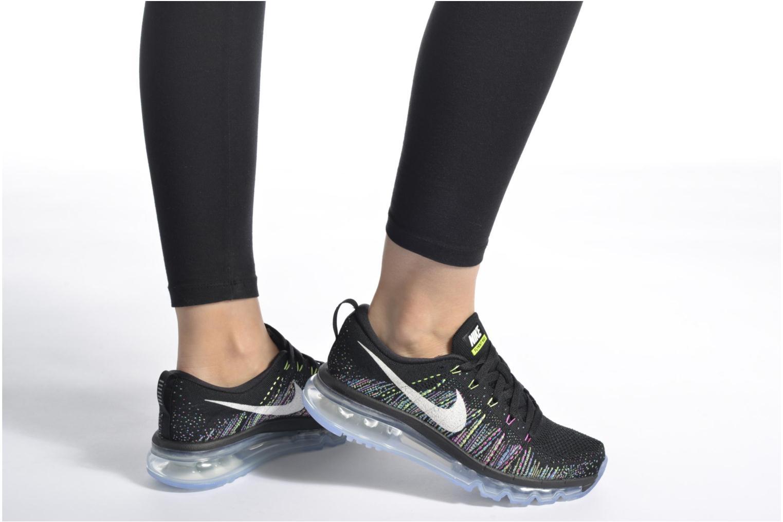 Wmns Nike Flyknit Max Aluminum/Black-Hot Punch-Electrolime