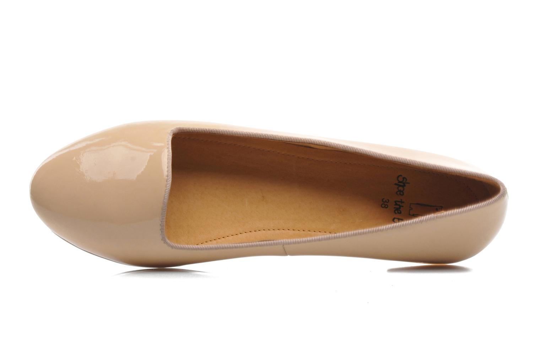 Ballerines Shoe the bear Paris Patent Beige vue gauche