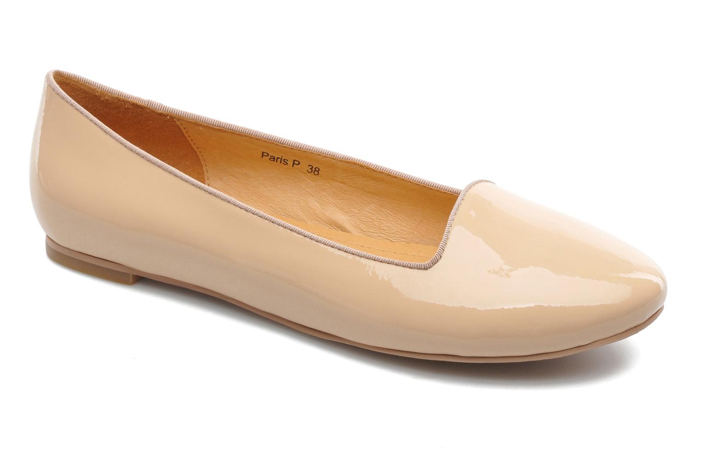 Ballerines Shoe the bear Paris Patent Beige vue détail/paire