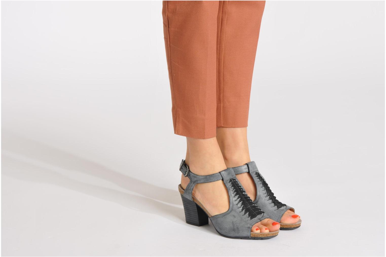 Sandalen Dkode Rosen grau ansicht von unten / tasche getragen
